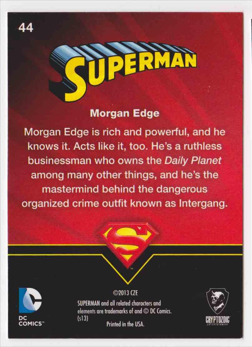 2013 Superman Cryptozoic Superman #44 card back image