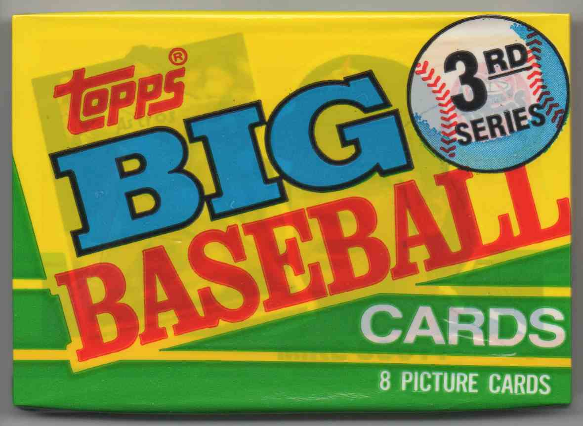 1990 Topps Big Series 3 Unopened Pack #8 card front image