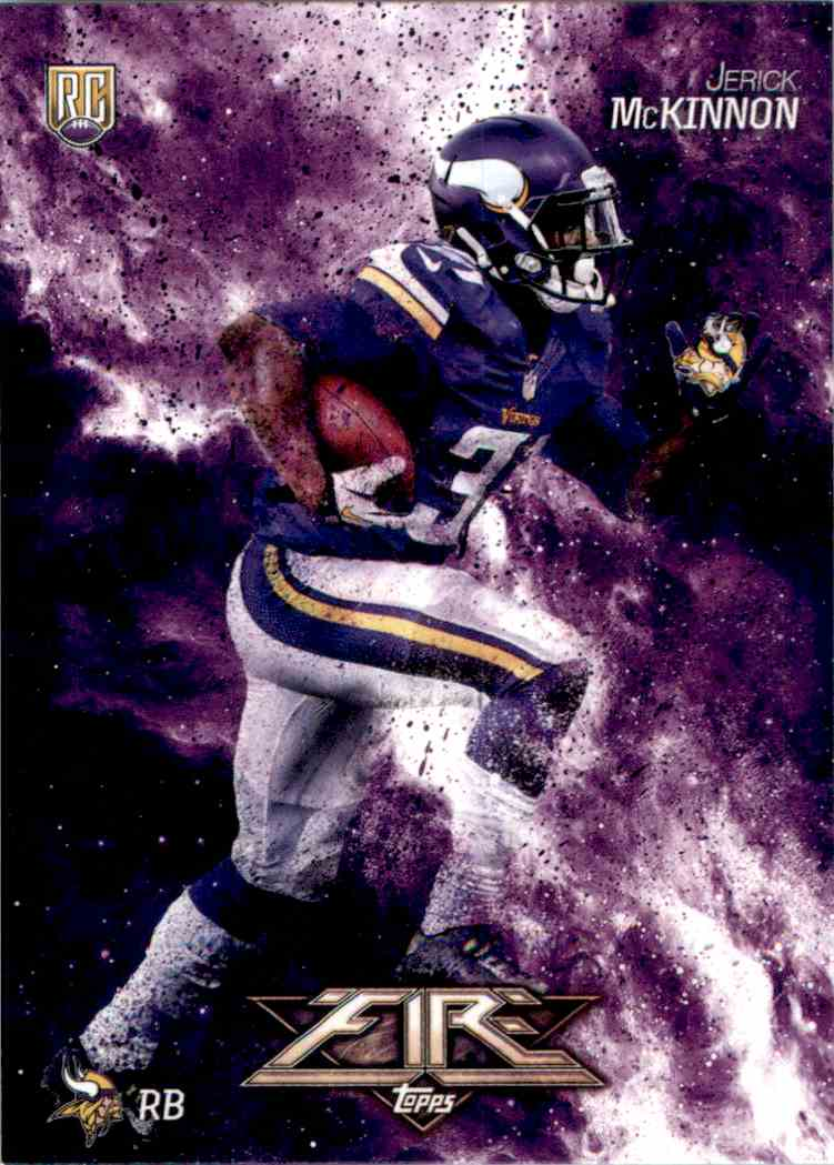 2014 Topps Fire Jerick McKinnon RC #130 card front image
