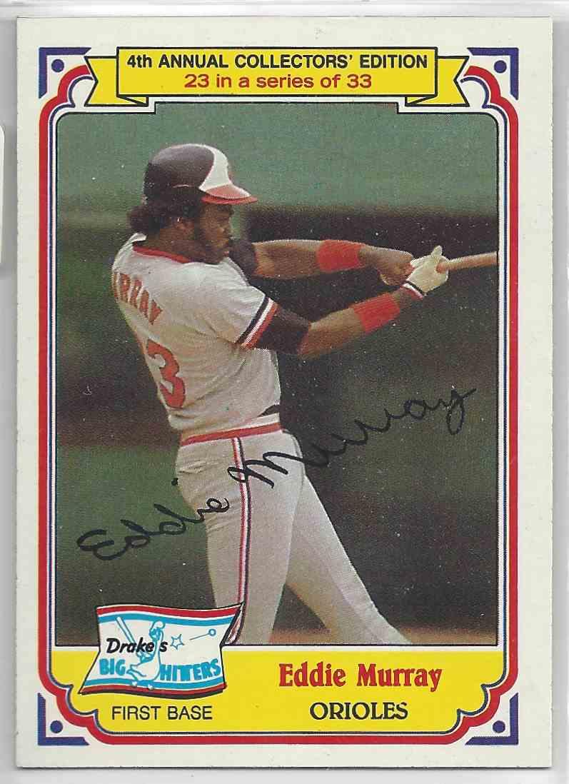 1984 Drakes Big Hitters Eddie Murray #23 card front image