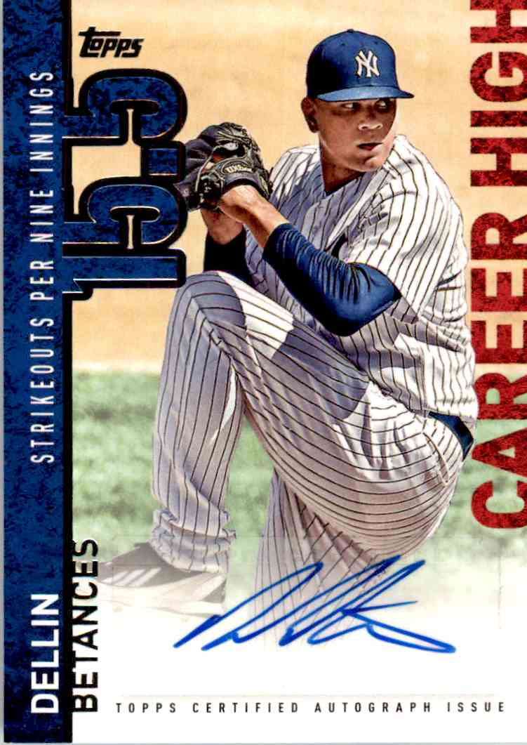 2015 Topps Auto Dellin Betances #CH-DB card front image