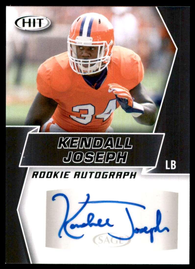 2019 Sage Hit Autographs Black Kendall Joseph #A62 card front image