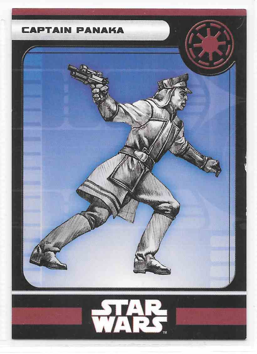 2008 Star Wars Miniatures Captain Panaka Stat Card Only