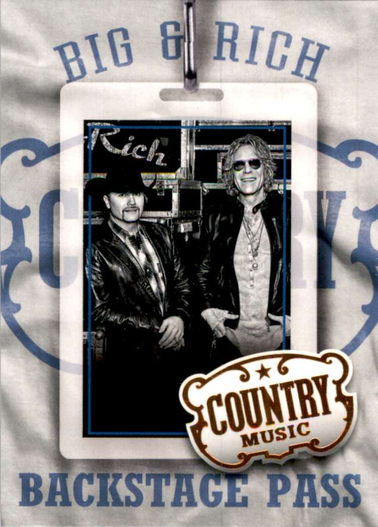 2015 Country Music Backstage Pass Retail Big & Rich #17 card front image