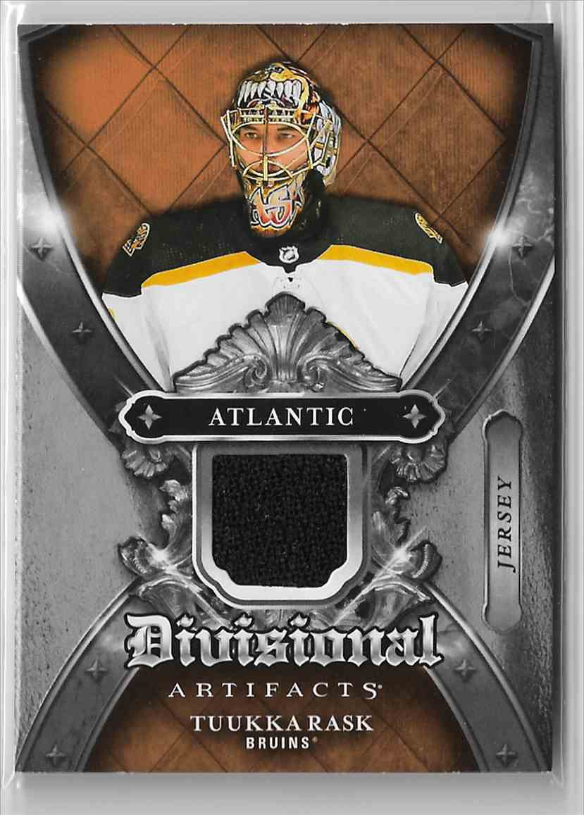 2018-19 Upper Deck Artifacts Divisional Artifacts Tuukka Rask #DA-TR card front image
