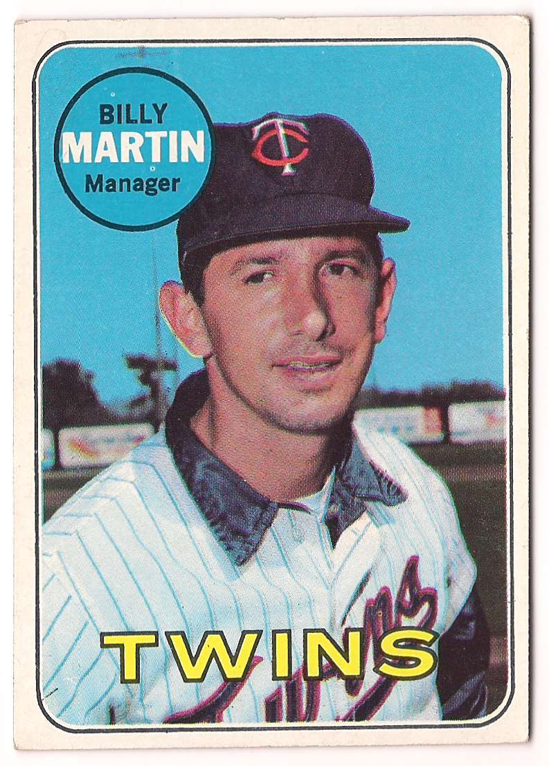 1969 Topps Billy Martin #547 card front image