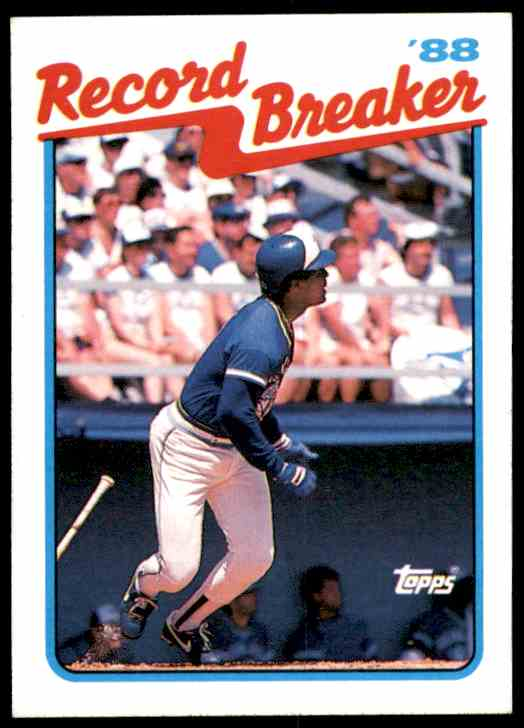 1989 Topps George Bell RB/Slams 3 Hr On/Opening Day #1 card front image