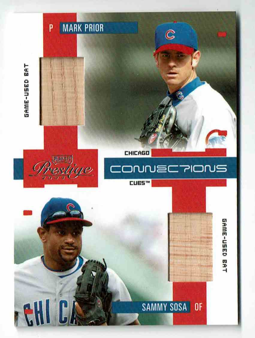 2004 Playoff Prestige Connections Sammy Sosa/Prior #8 card front image
