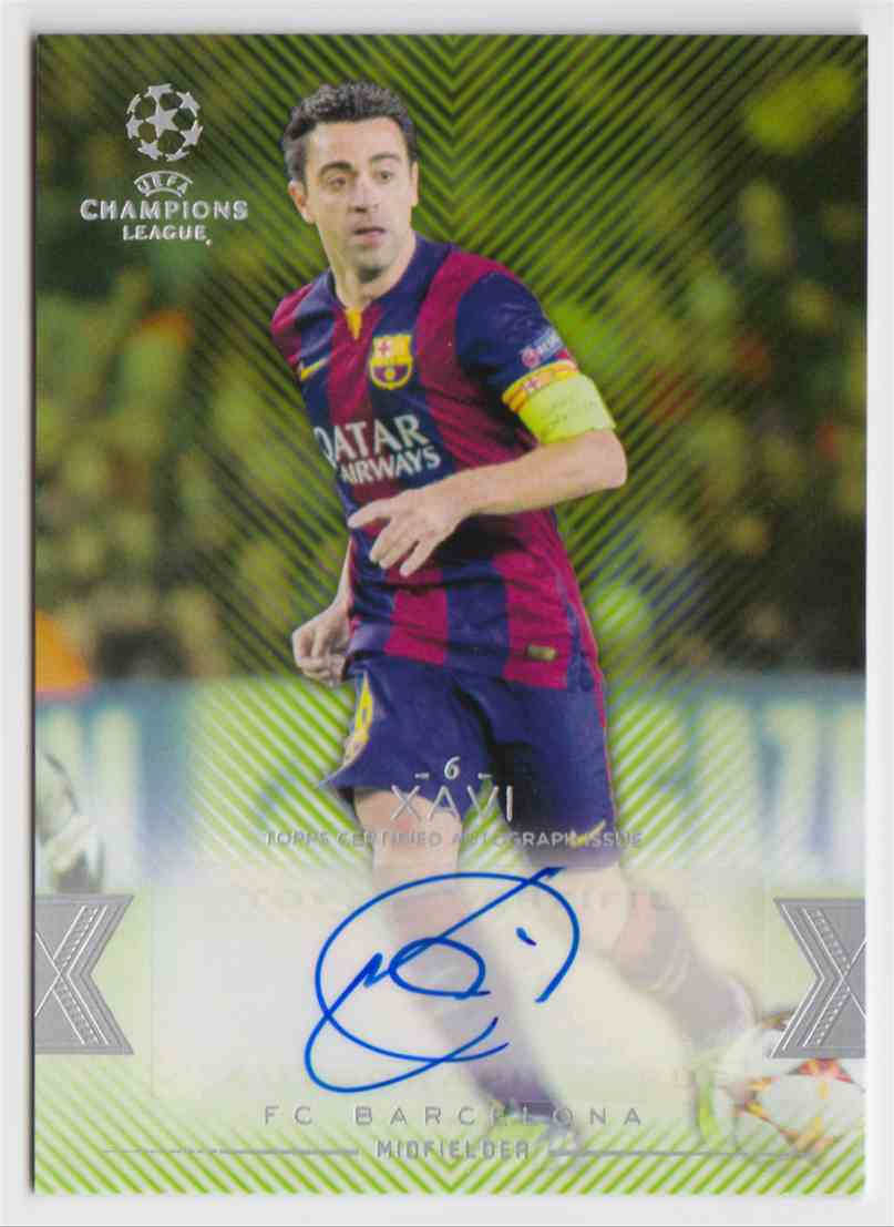 2015 Topps Champions League Green Xavi #CLA-X card front image