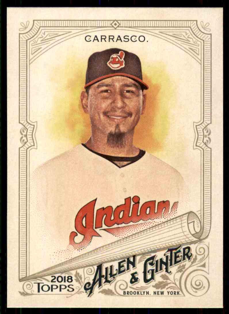 2018 Topps Allen & Ginter Carlos Carrasco #342 card front image