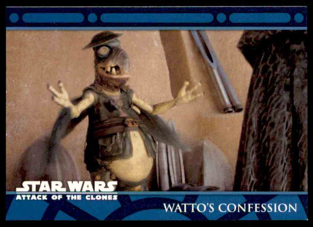 2002 Topps Star Wars Attack Of The Clones Watto's Confession #41 card front image