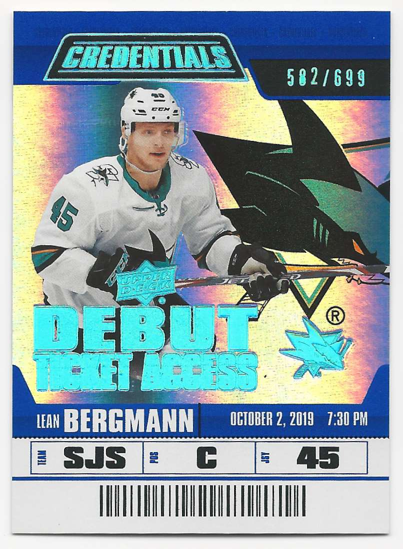 2019-20 Upper Deck Credentials Lean Bergmann #117 card front image