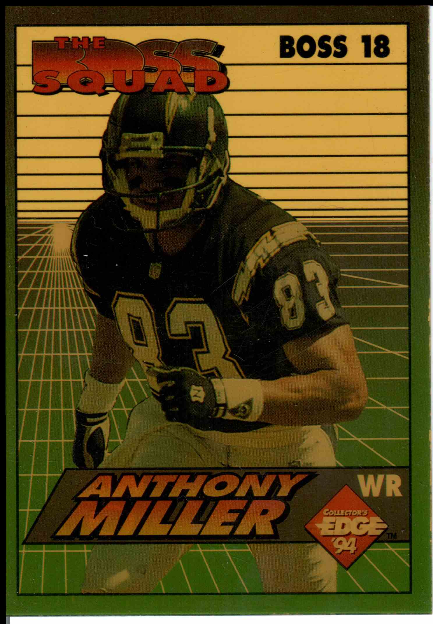 1994 Collectors Edge Anthony Miller #18 card front image