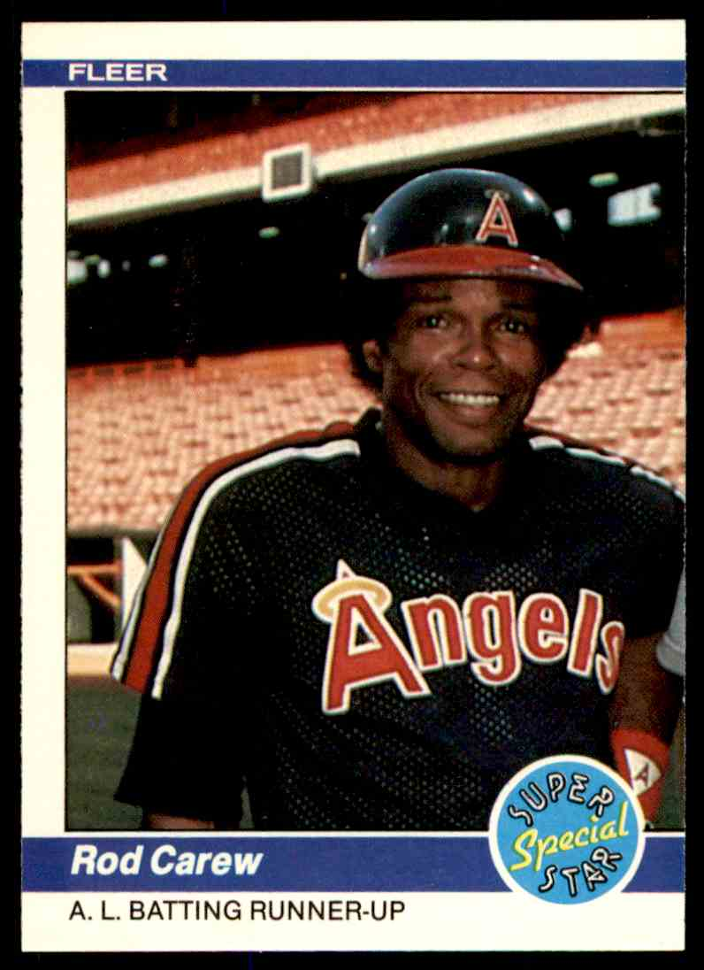 1984 Fleer Rod Carew #629 card front image