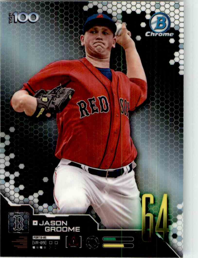 2019 Bowman Chrome Scouts Top 100 Jason Groome #BTP-64 card front image