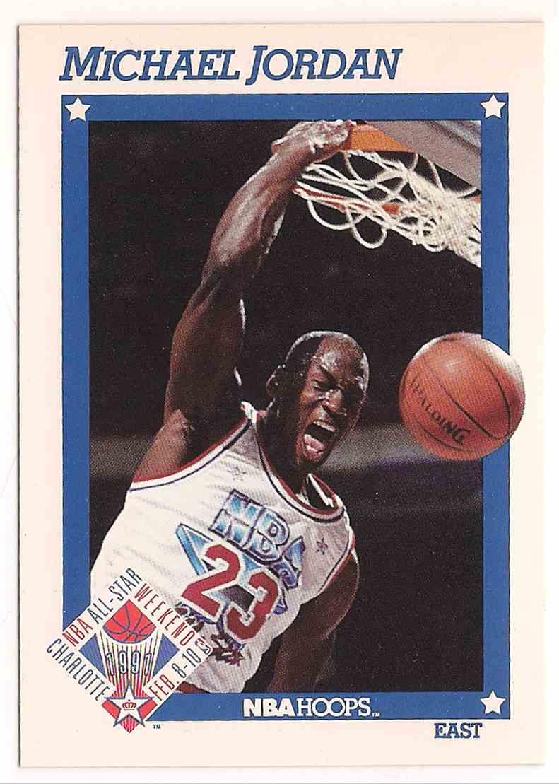 1991-92 NBA Hoops Michael Jordan #253 card front image