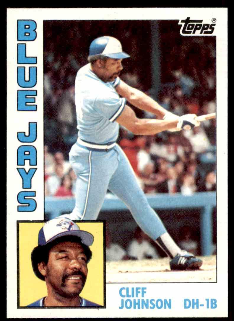 1984 Topps Mlb Baseball Cliff Johnson 221 On Kronozio