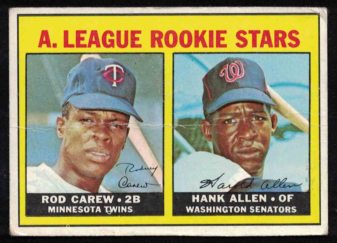 1967 Topps Rod Carew VG crease #569 card front image