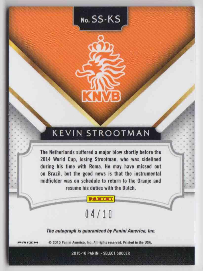 2015 Panini Select Signatures Prizm Blue Kevin Strootman #SS-KS card back image