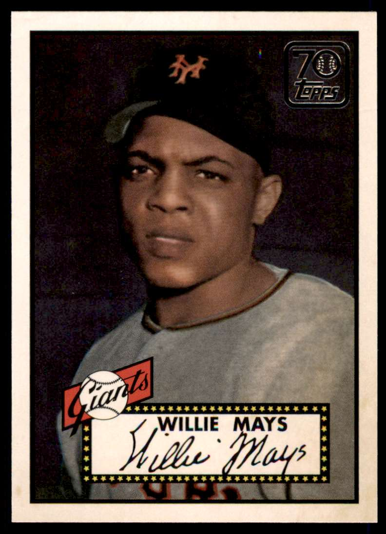 2021 Topps Topps Double Header Willie Mays #TDH-4 card front image