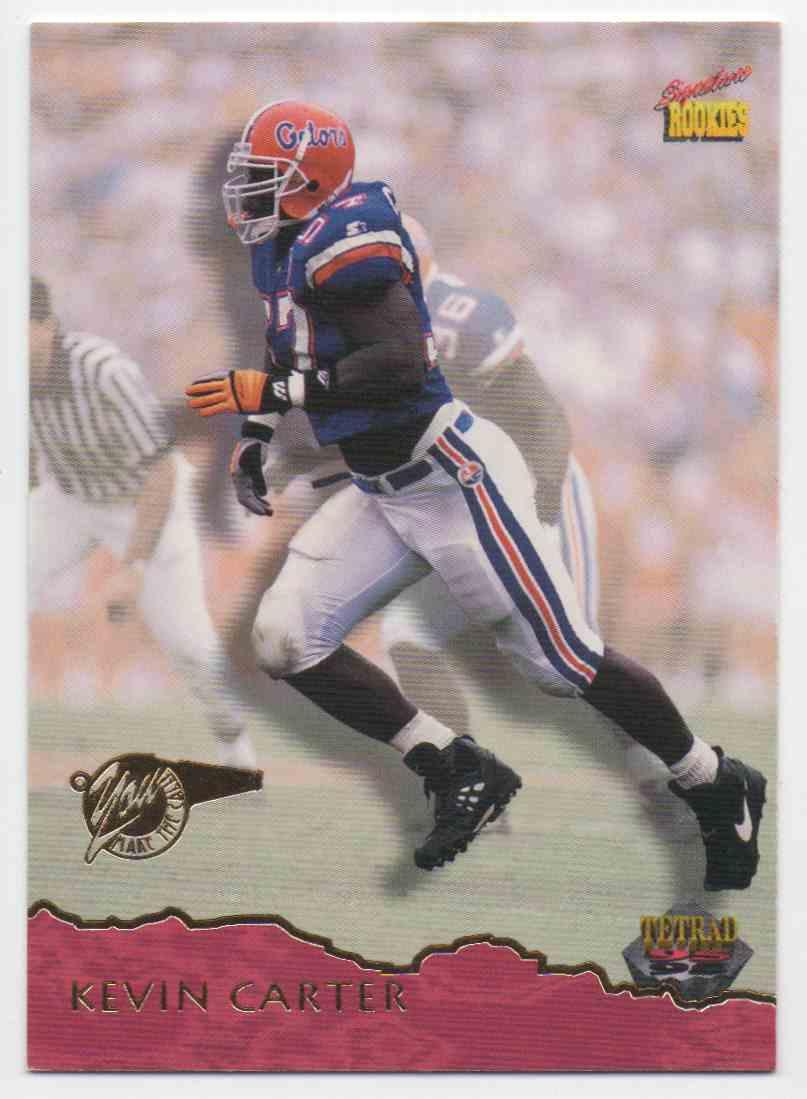 1995 Signature Rookies Tetrad Kevin Carter #1 card front image