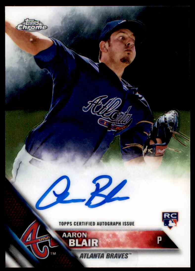 2016 Topps Chrome Aaron Blair #RA-AB card front image