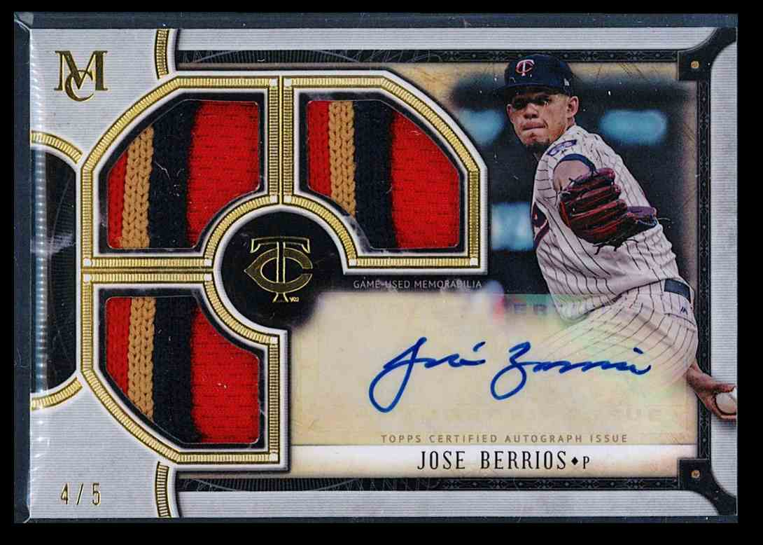 2018 Topps Museum Collection Signature Swatches Jose Berrios #TRA-JB card front image
