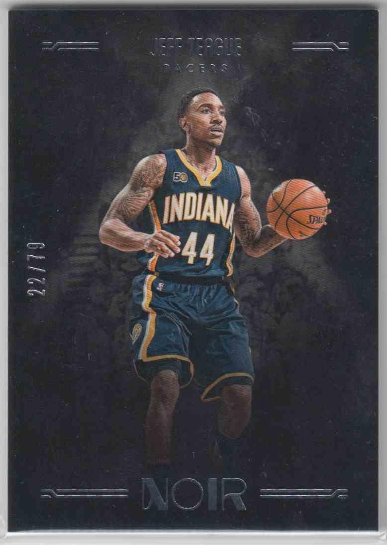 2016-17 Panini Noir Base Jeff Teague #163 card front image