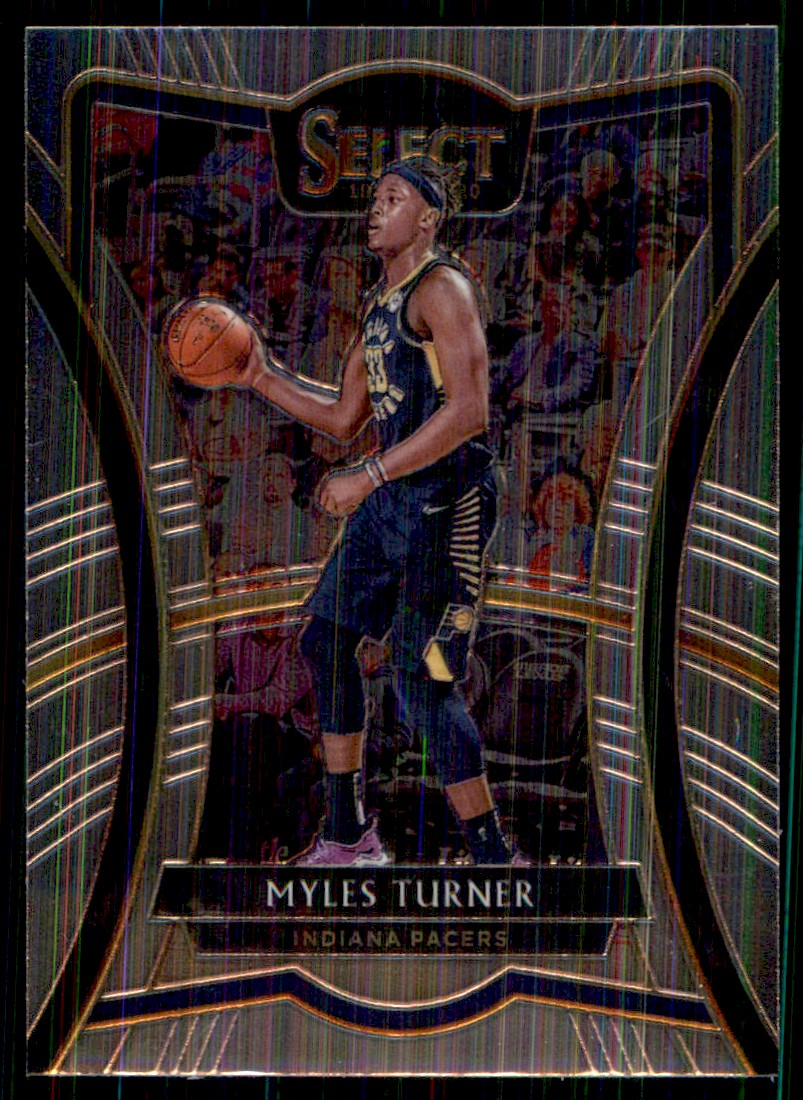 2019-20 Panini Select Myles Turner #185 card front image