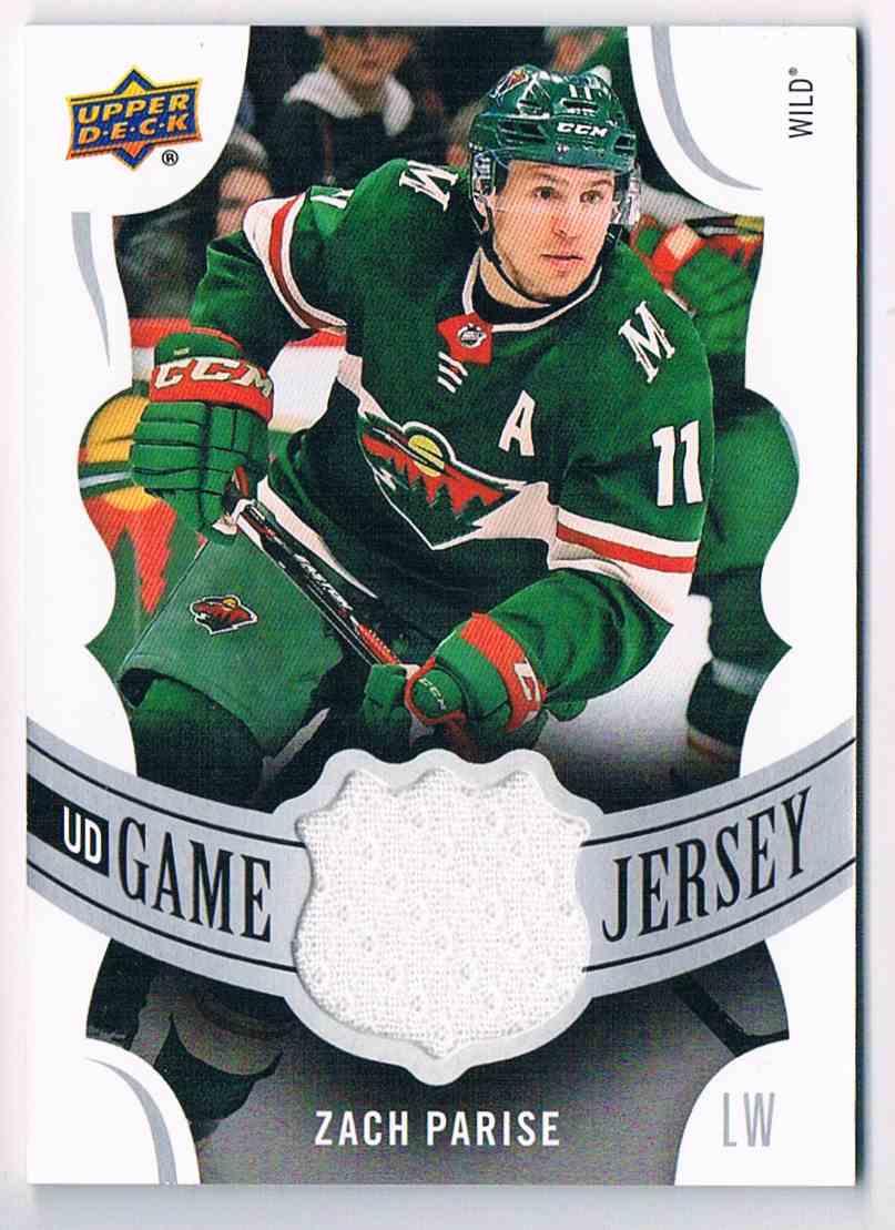 2018-19 Upper Deck UD Game Jersey Zach Parise #GJ-ZP card front image