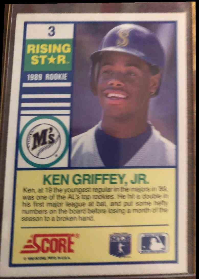 1990 Score Ken Griffey, JR. #3 card back image