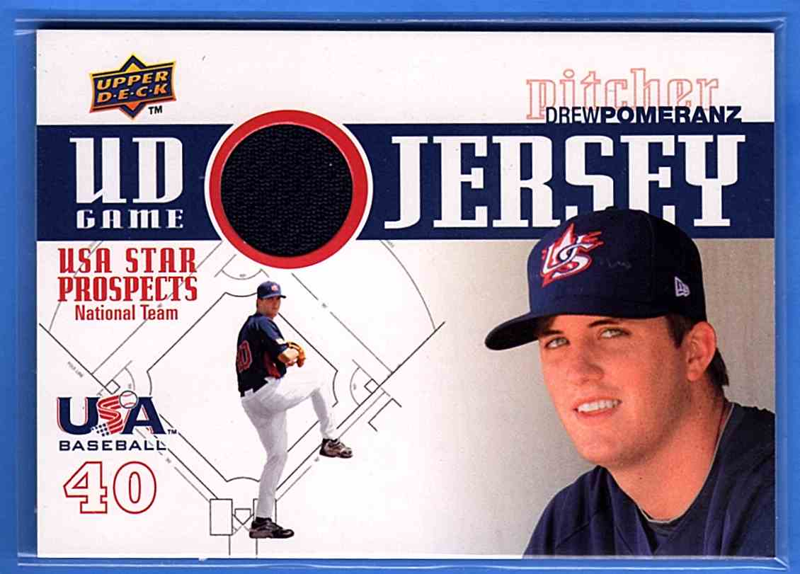 2009 Upper Deck Signature Stars USA Star Prospects Jerseys Drew Pomeranz #GJU36 card front image