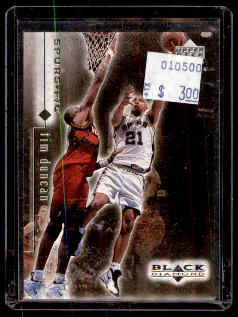 1998-99 Upper Deck Black Diamond Tim Duncan #76 card front image