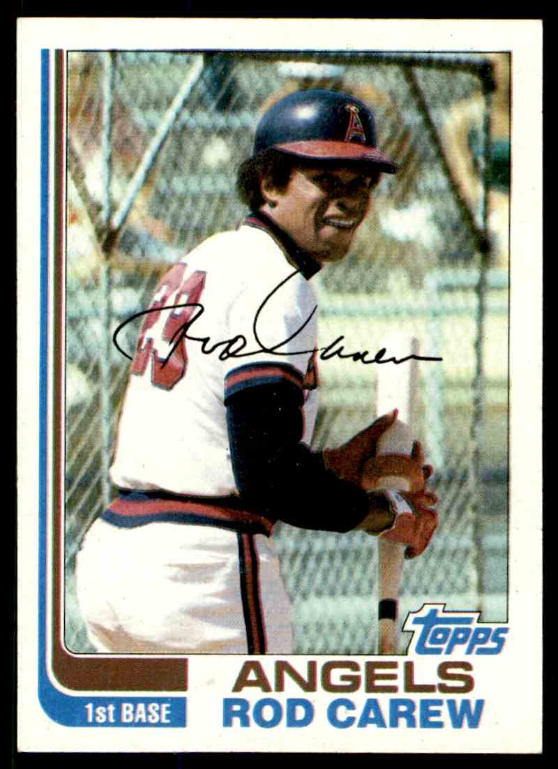 1982 Topps Rod Carew #500 card front image
