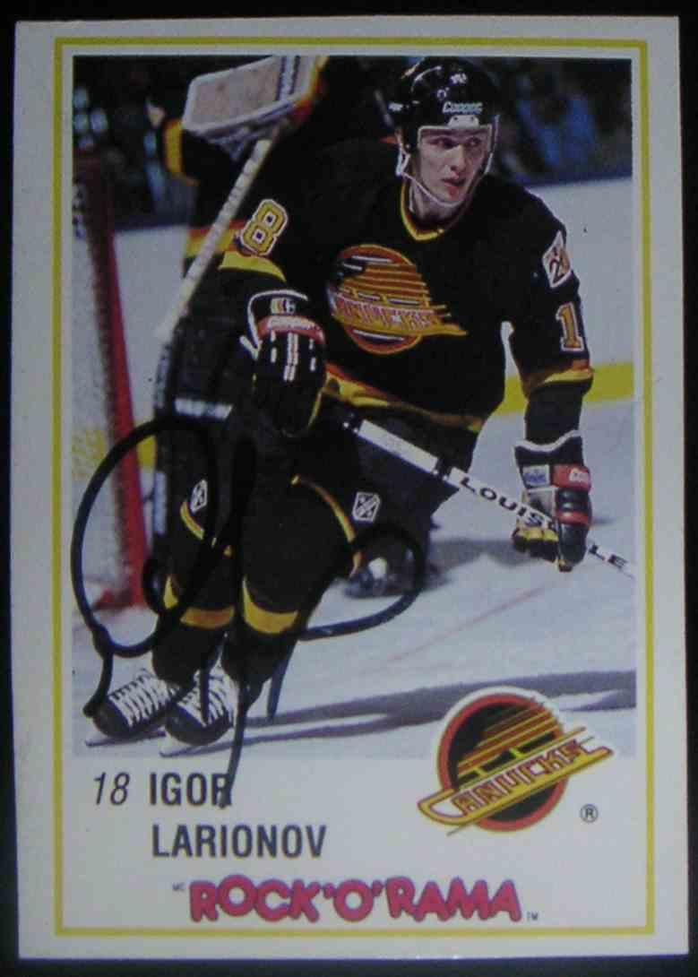1989-90 Kraft Dinner Igor Larionov #41 card front image