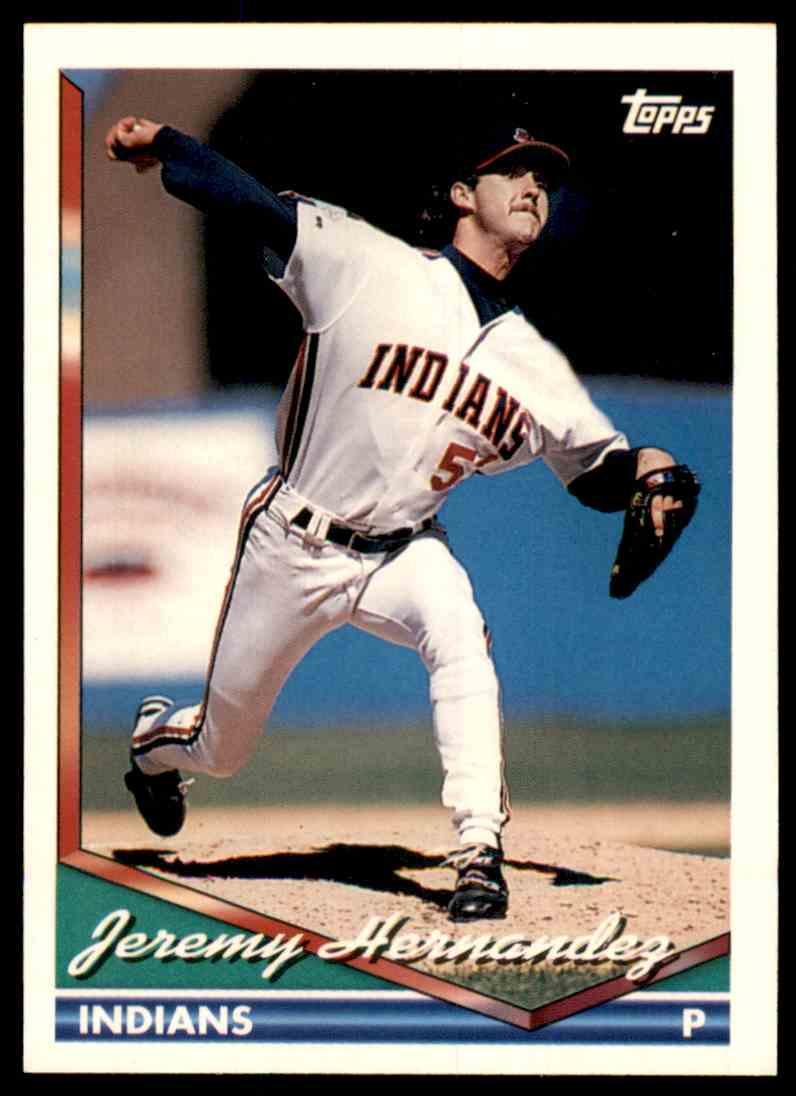1994 Topps Jeremy Hernandez #537 card front image