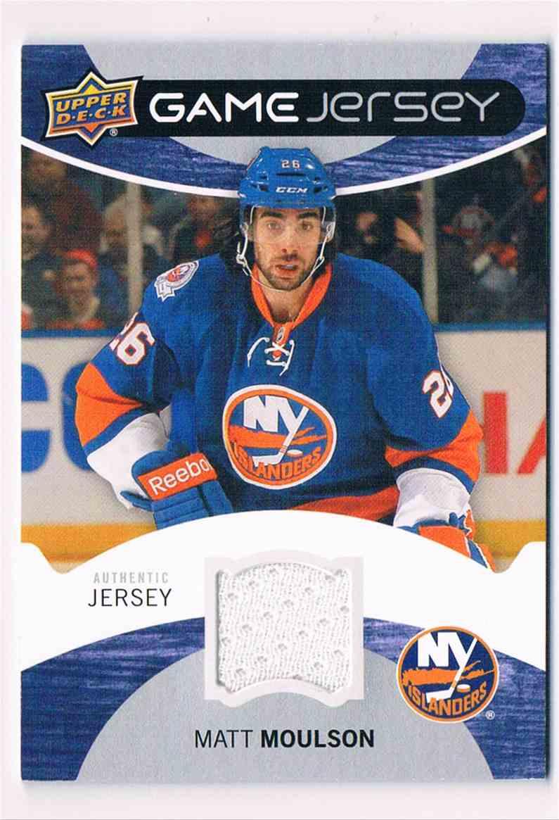 2012-13 Upper Deck Series One Matt Moulson #GJ-MM card front image
