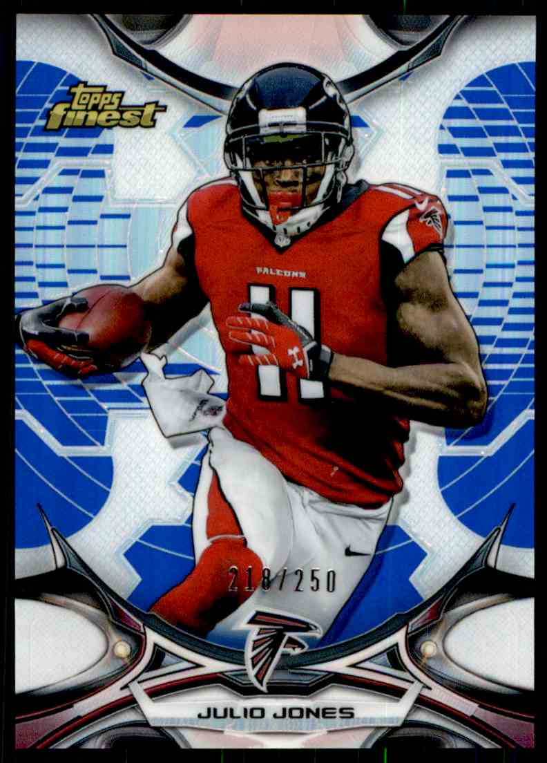 2014 Topps Finest Julio Jones card front image