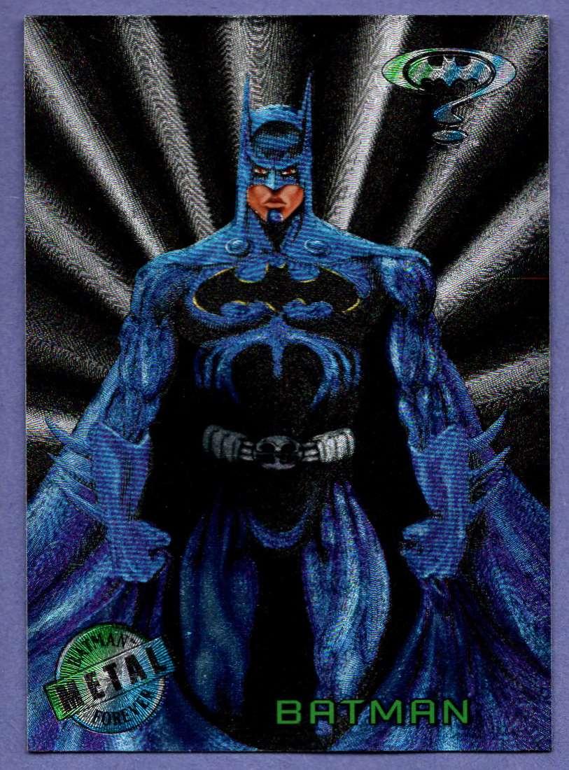 1995 Fleer Metal Batman Forever Batman #1 card front image
