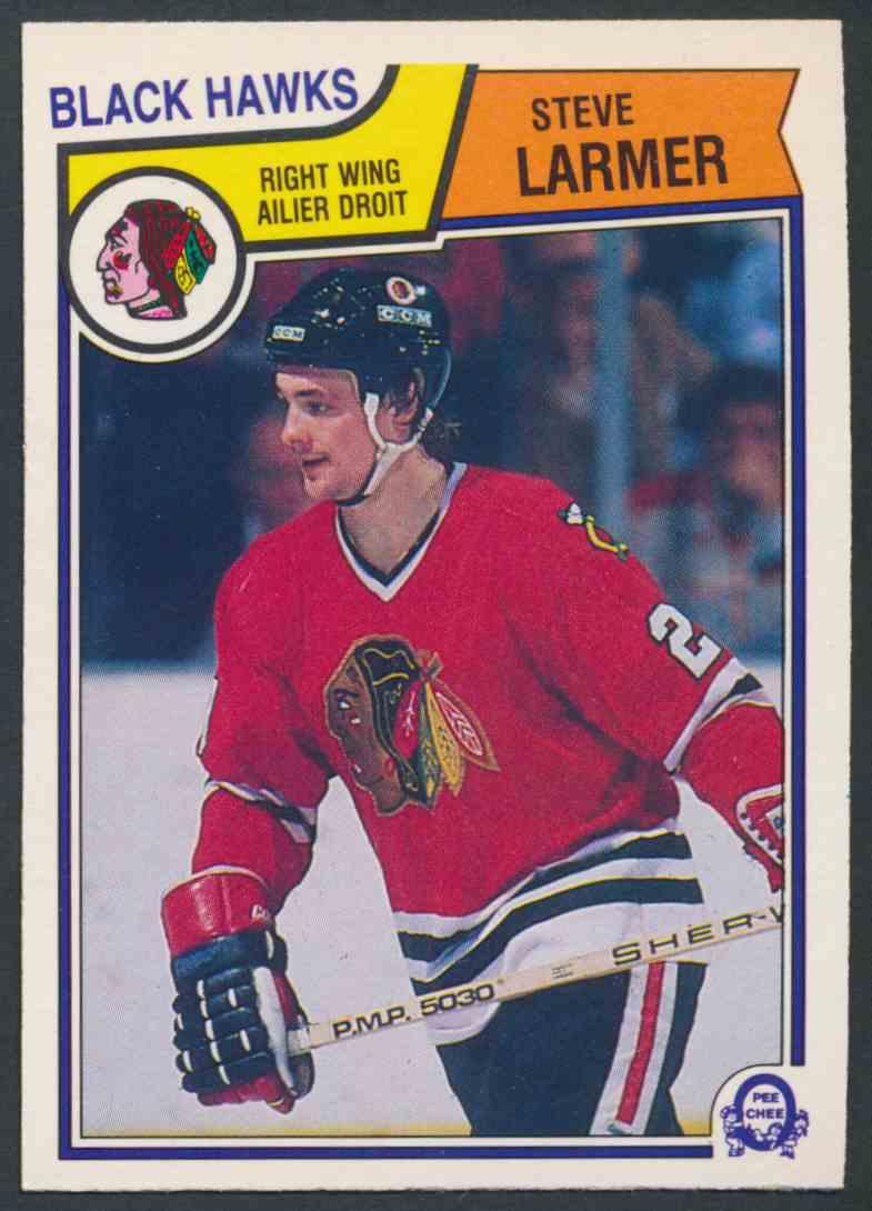 1983-84 O-Pee-Chee Steve Larmer - Mint #105 card front image