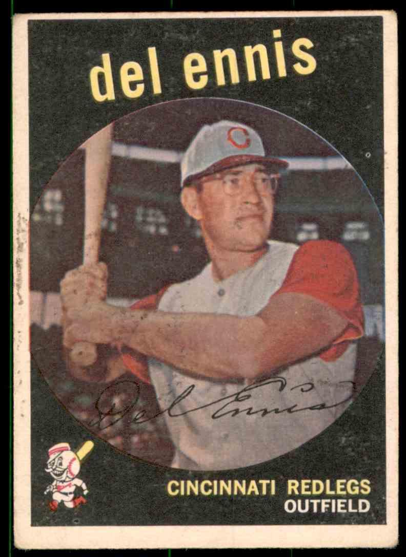 1959 Topps Del Ennis #255 card front image