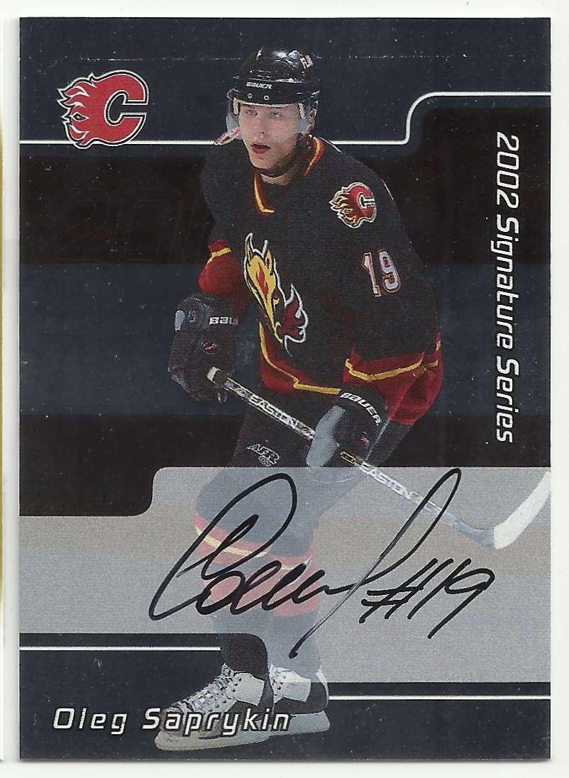 2001-02 Be A Player Signature Series Autographs Oleg Saprykin #128 card front image