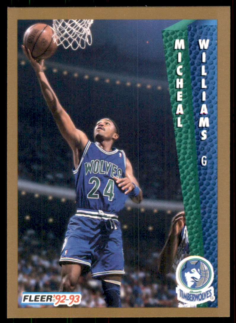1992-93 Fleer Micheal Williams #384 card front image