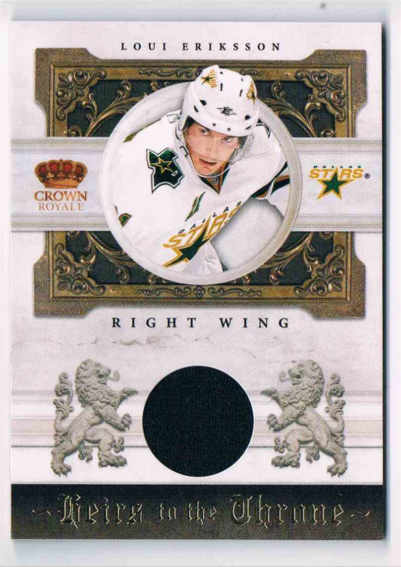 2010-11 Panini Crown Royale Heirs To The Throne Loui Eriksson #LE card front image