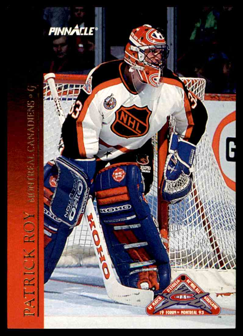 1993-94 Pinnacle All-Stars Canadian Patrick Roy #18 card front image