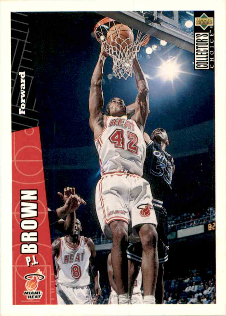 1996-97 Collector's Choice P.J. Brown #272 card front image