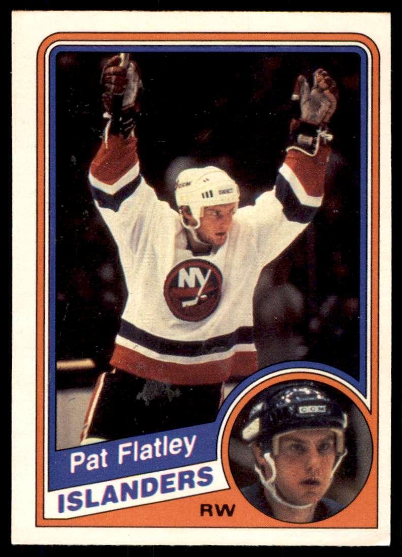 1984-85 OPC Pat Flatley #124 card front image