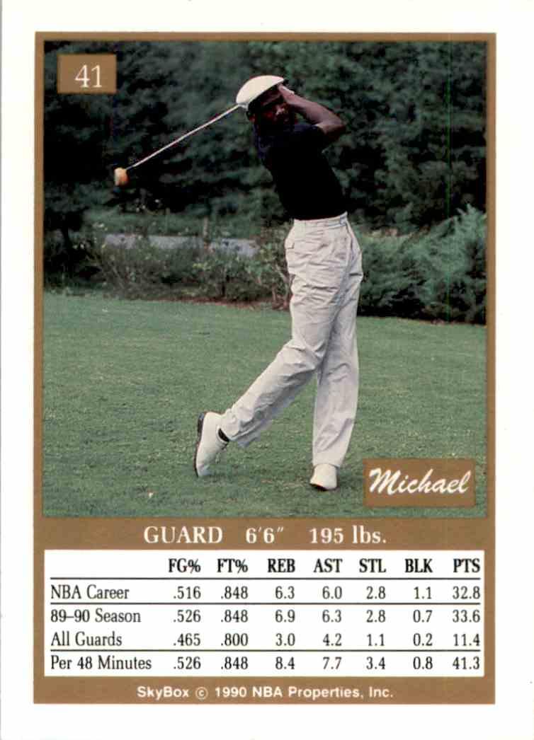 153f85a3f84 Real card back image 1990-91 Skybox Michael Jordan  41 card back image