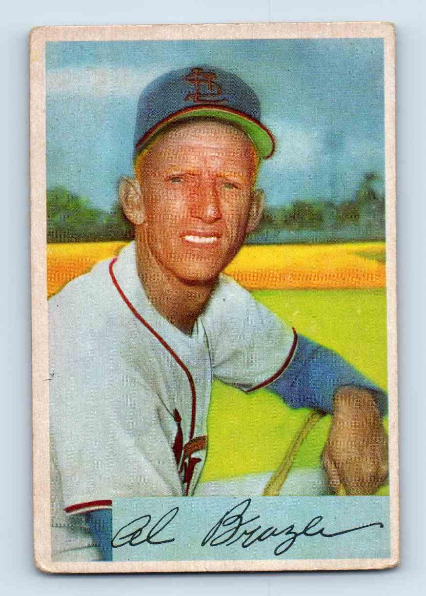 1954 Bowman Al Brazle #142 card front image