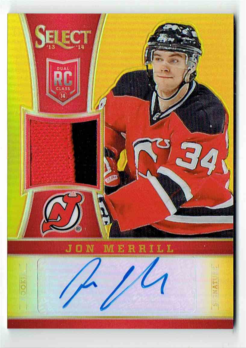 2013-14 Select Rookies Jersey Autographs Prime Jon Merrill #325 card front image